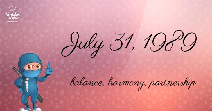 July 31, 1989 Birthday Ninja