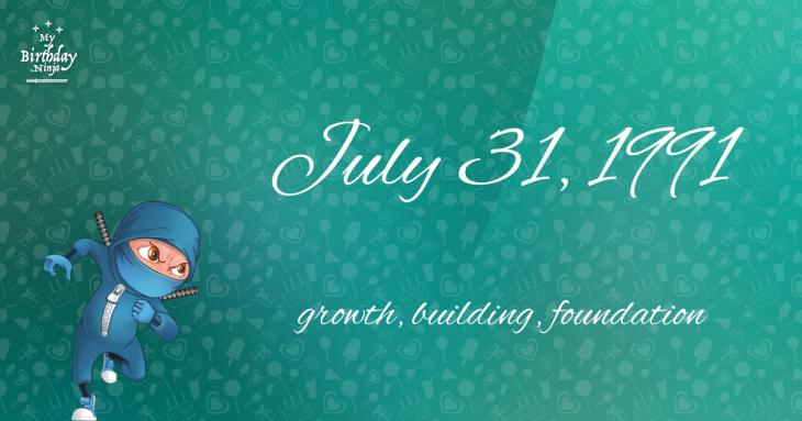 July 31, 1991 Birthday Ninja