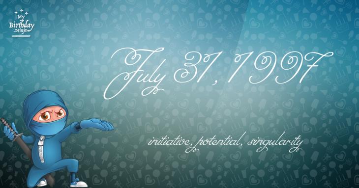 July 31, 1997 Birthday Ninja