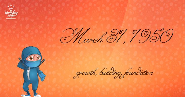 March 31, 1950 Birthday Ninja