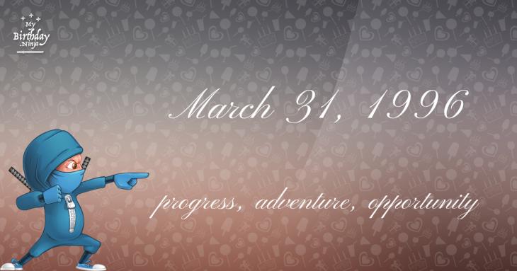 March 31, 1996 Birthday Ninja