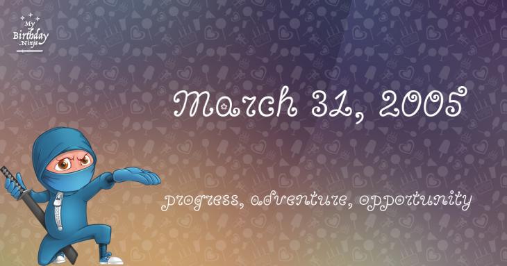March 31, 2005 Birthday Ninja