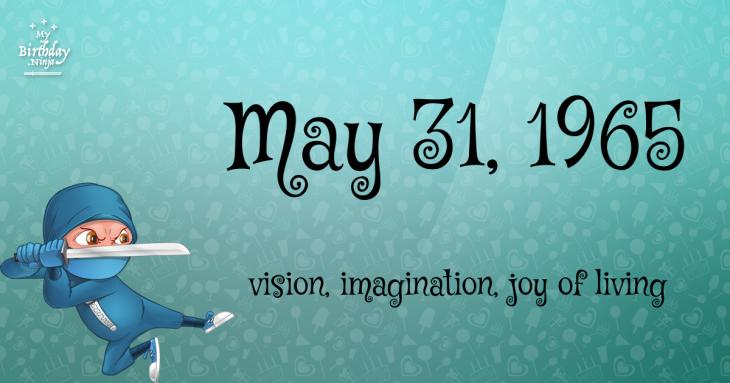 May 31, 1965 Birthday Ninja