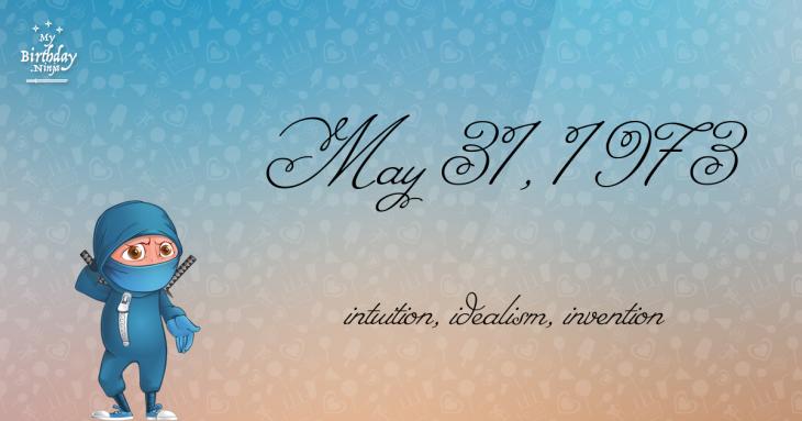 May 31, 1973 Birthday Ninja