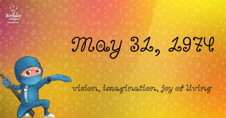 May 31, 1974 Birthday Ninja