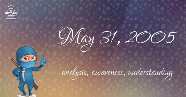 May 31, 2005 Birthday Ninja
