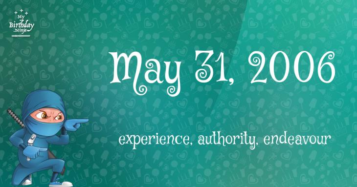 May 31, 2006 Birthday Ninja