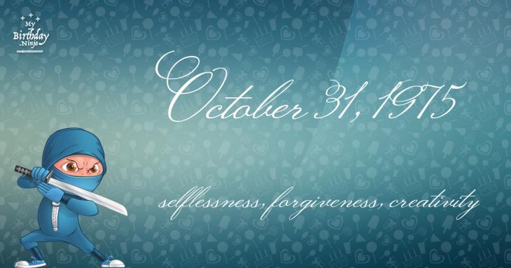 October 31, 1975 Birthday Ninja