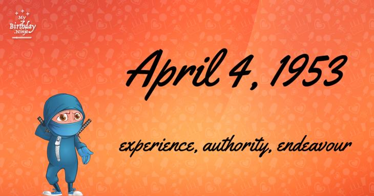 April 4, 1953 Birthday Ninja
