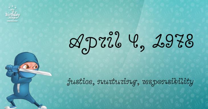 April 4, 1978 Birthday Ninja
