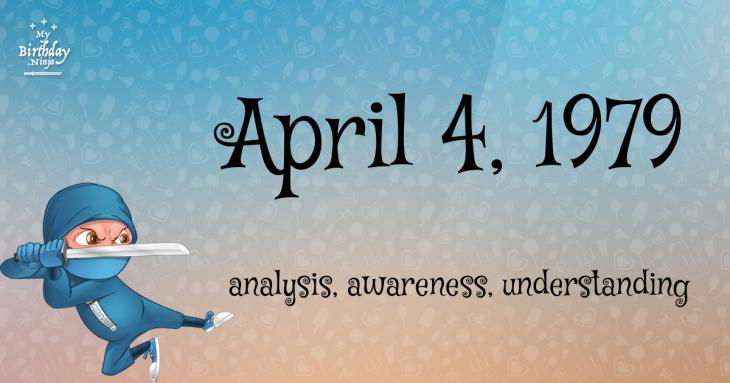April 4, 1979 Birthday Ninja