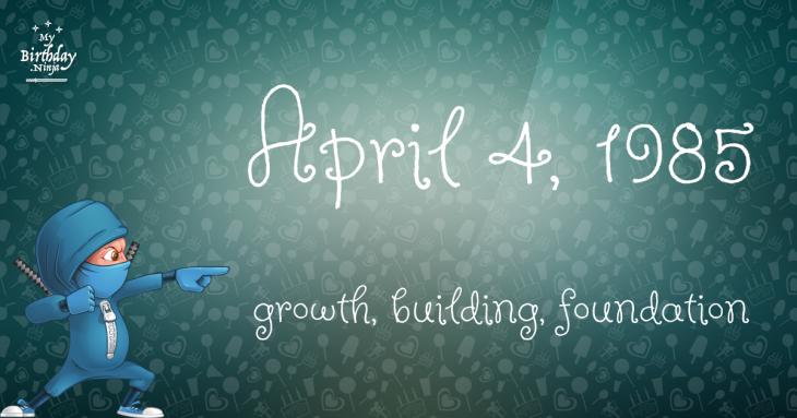 April 4, 1985 Birthday Ninja