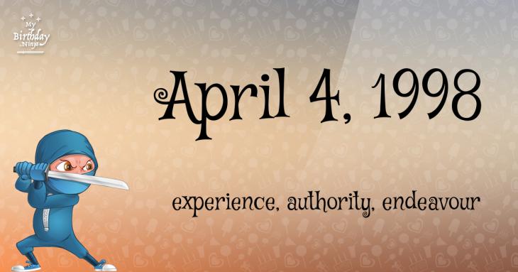 April 4, 1998 Birthday Ninja