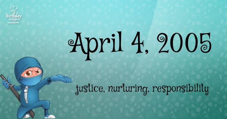 April 4, 2005 Birthday Ninja