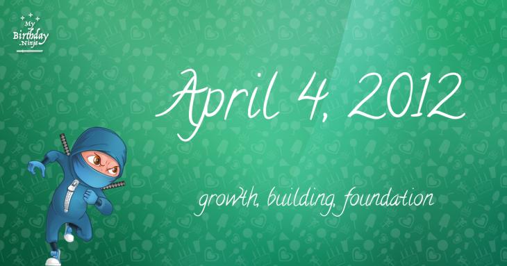 April 4, 2012 Birthday Ninja