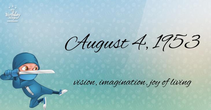 August 4, 1953 Birthday Ninja
