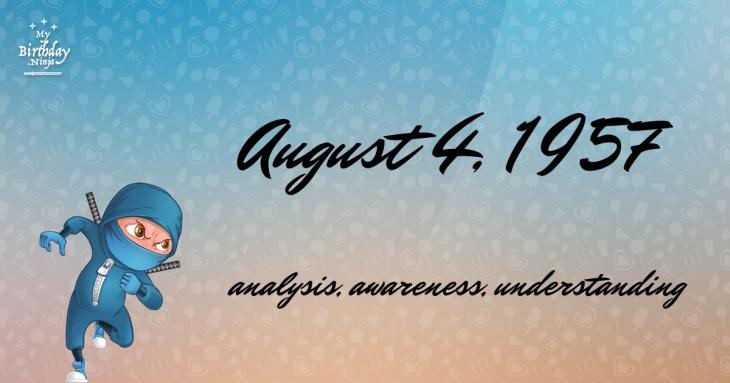 August 4, 1957 Birthday Ninja