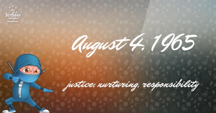 August 4, 1965 Birthday Ninja