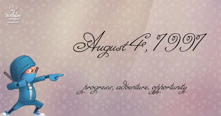 August 4, 1991 Birthday Ninja