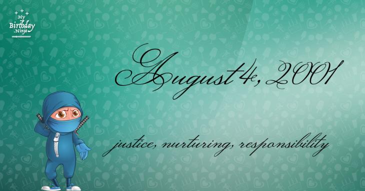 August 4, 2001 Birthday Ninja