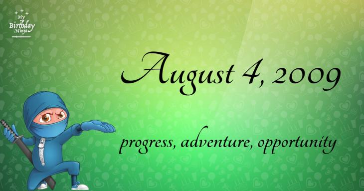 August 4, 2009 Birthday Ninja