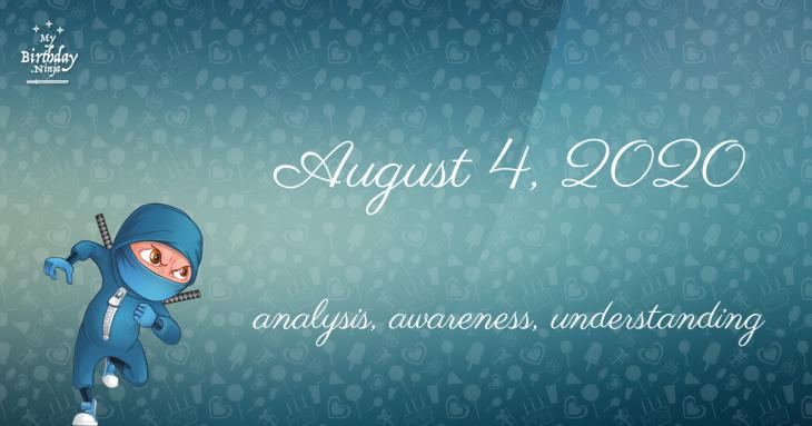 August 4, 2020 Birthday Ninja