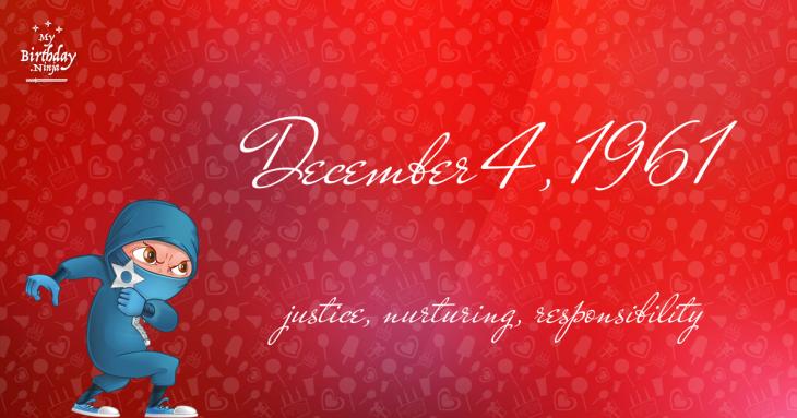 December 4, 1961 Birthday Ninja