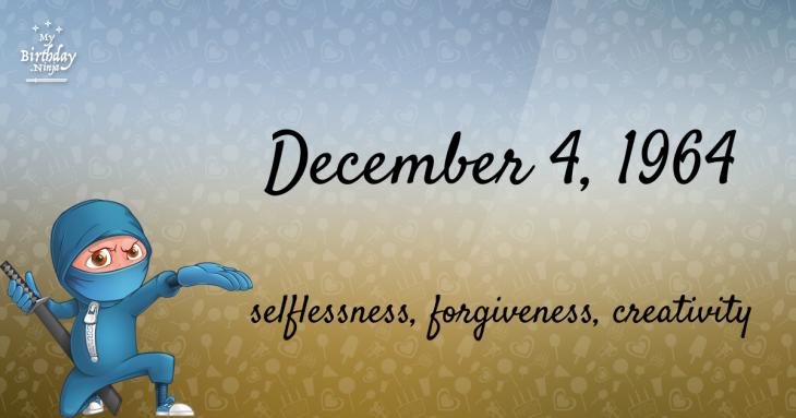 December 4, 1964 Birthday Ninja