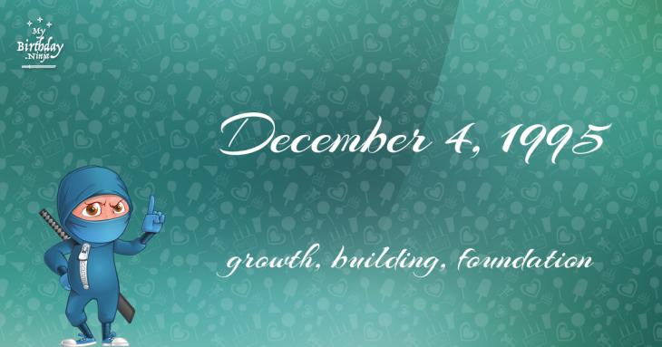 December 4, 1995 Birthday Ninja
