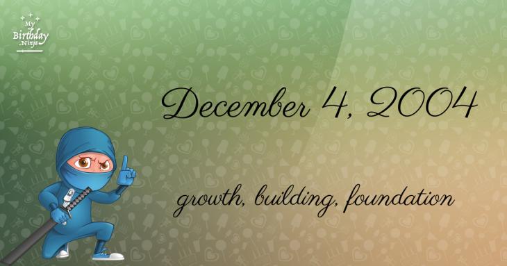 December 4, 2004 Birthday Ninja