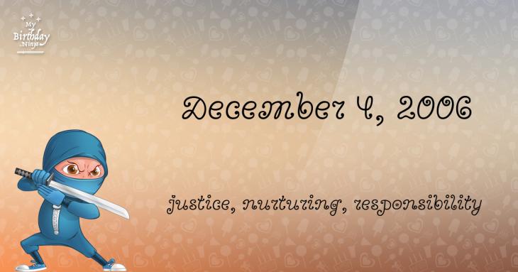 December 4, 2006 Birthday Ninja