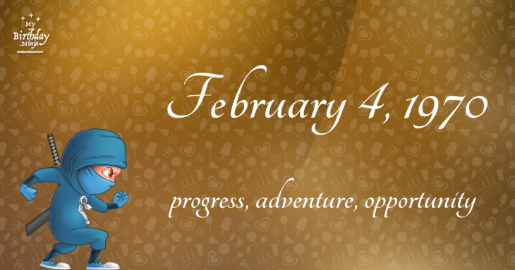 February 4, 1970 Birthday Ninja