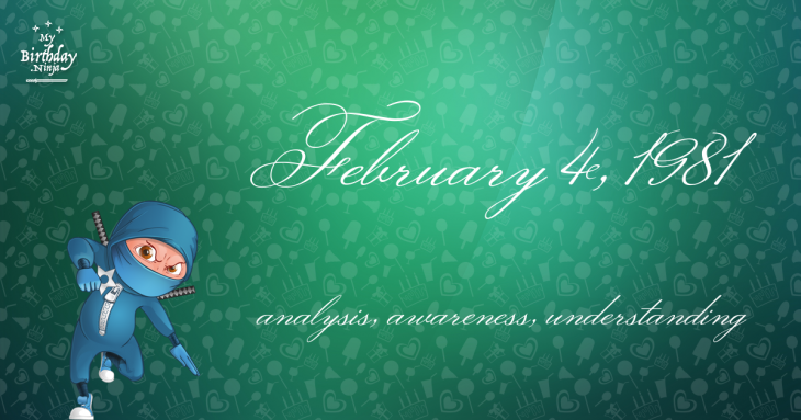 February 4, 1981 Birthday Ninja