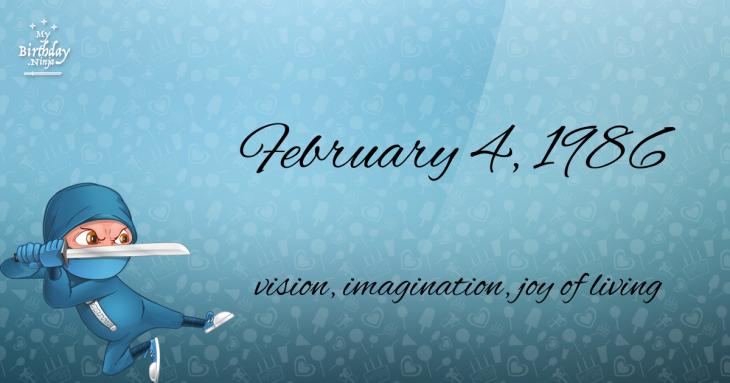 February 4, 1986 Birthday Ninja