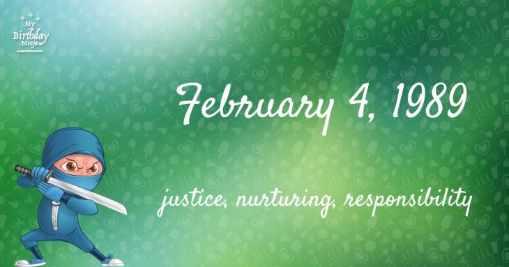 February 4, 1989 Birthday Ninja