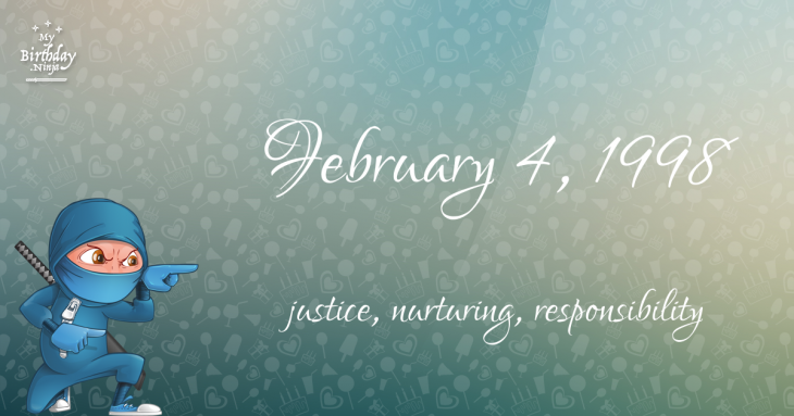 February 4, 1998 Birthday Ninja