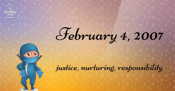 February 4, 2007 Birthday Ninja