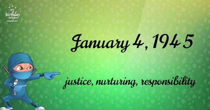 January 4, 1945 Birthday Ninja