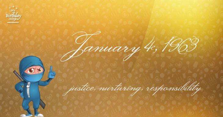 January 4, 1963 Birthday Ninja