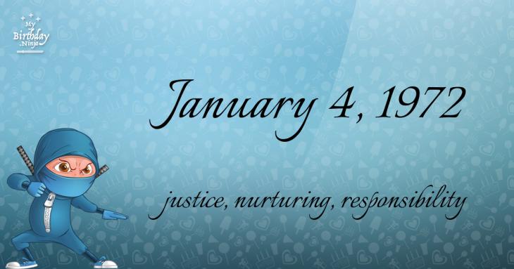 January 4, 1972 Birthday Ninja