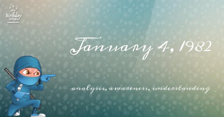 January 4, 1982 Birthday Ninja
