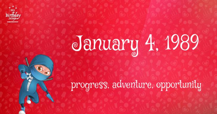 January 4, 1989 Birthday Ninja