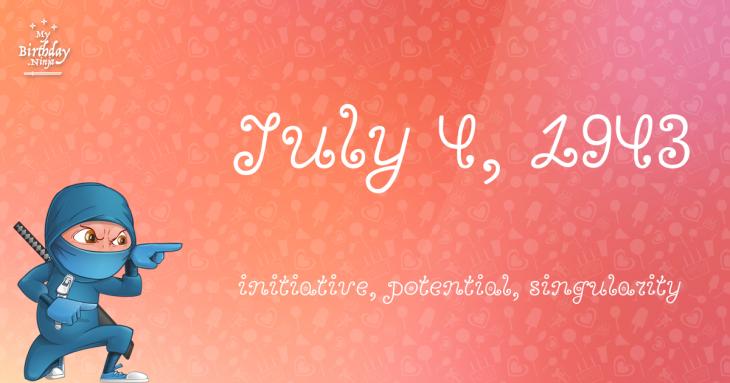 July 4, 1943 Birthday Ninja