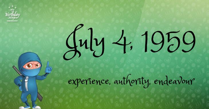 July 4, 1959 Birthday Ninja