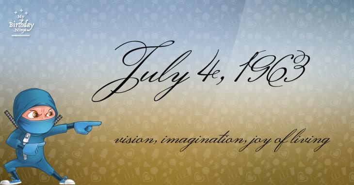 July 4, 1963 Birthday Ninja