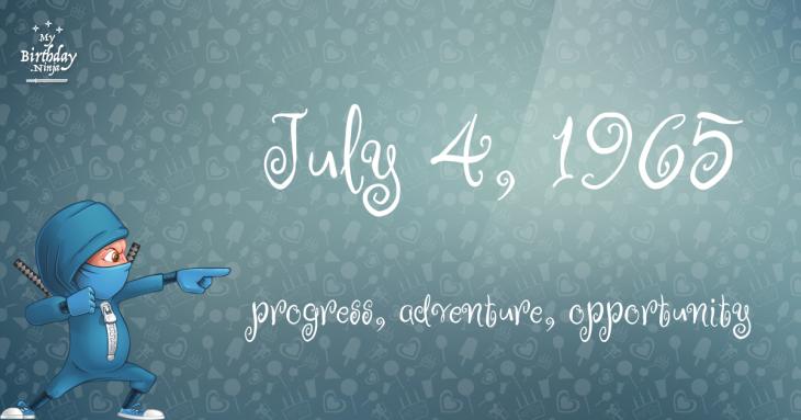 July 4, 1965 Birthday Ninja