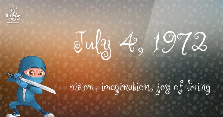 July 4, 1972 Birthday Ninja
