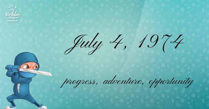 July 4, 1974 Birthday Ninja