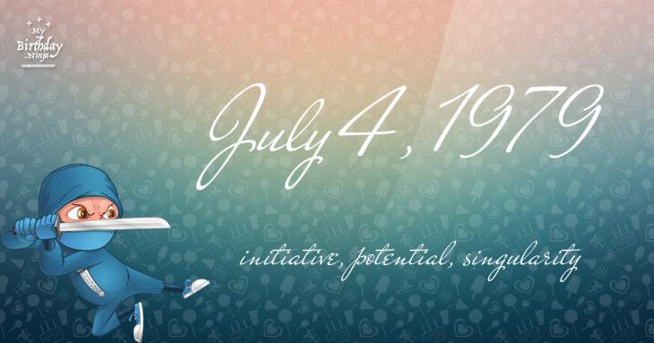 July 4, 1979 Birthday Ninja