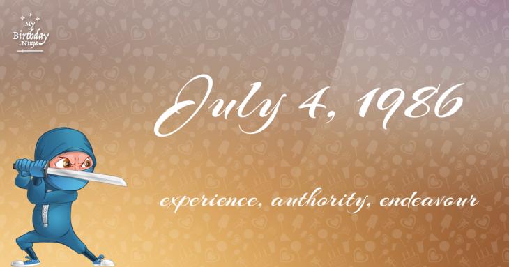 July 4, 1986 Birthday Ninja